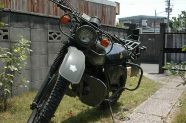 バイク全体を前部から撮影|防衛庁偵察用オートバイ ホンダXL250S