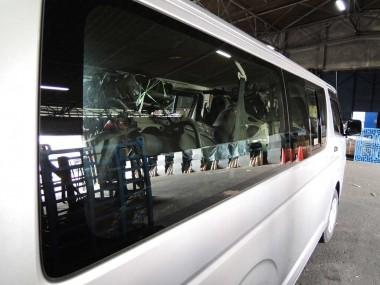 偵察オートバイKLX250の積み込み完了。倉庫の関係者にお礼をいったあと、すぐに帰阪の途につく。