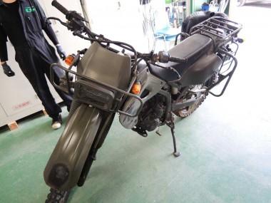 この偵察オートバイが今から完全に解体されていくのだ!