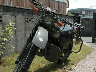完全オリジナルな偵察オートバイXL250S。自衛隊ではまったくと言っていい程見かけなくなった