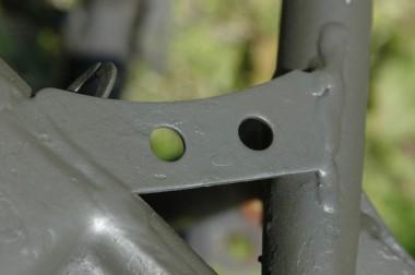 偵察オートバイXLR250Rのフレーム補強パーツ。