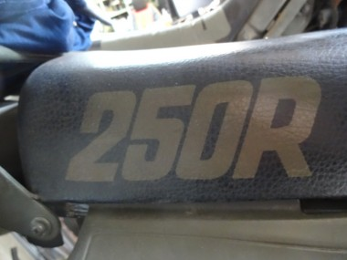 偵察オートバイXLR250Rのステンシルは完成済みだ。このシート用のステンシはダウンロードして頂く事ができる。